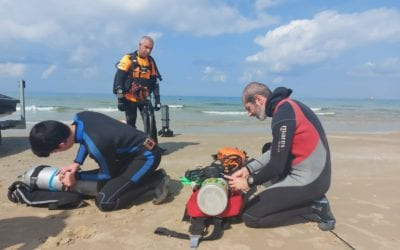 ZAKA Diver Unit Activated to Assist in Oil Spill Cleanup