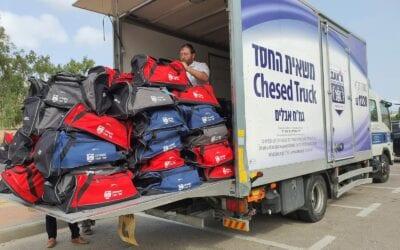 Supporters Send ZAKA Volunteers Truckloads of Gifts
